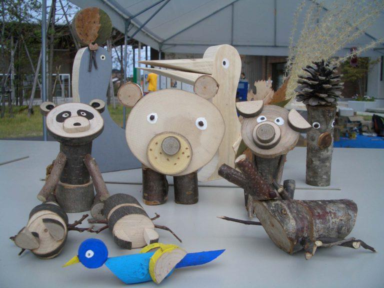 新緑の季節、阿賀町にある「五頭県民の森」でキットを使った木工体験に挑戦しませんか?